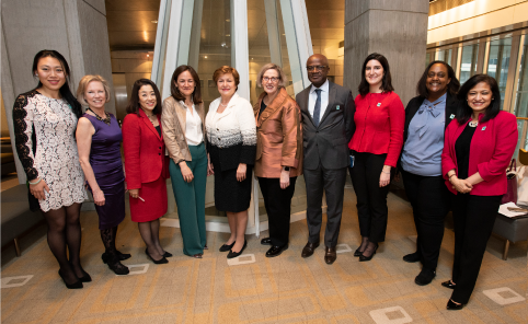 Photo of MIGA event panelists at the 2019 Gender CEO Award