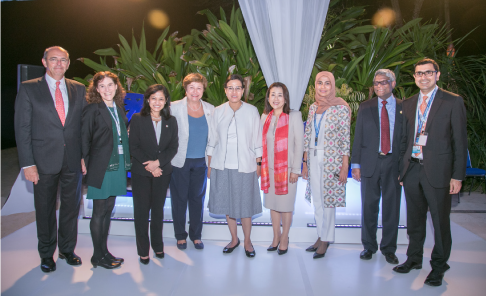 Photo of MIGA event panelists at the 2018 World Bank Group/IMF Annual Meetings in Bali, Indonesia