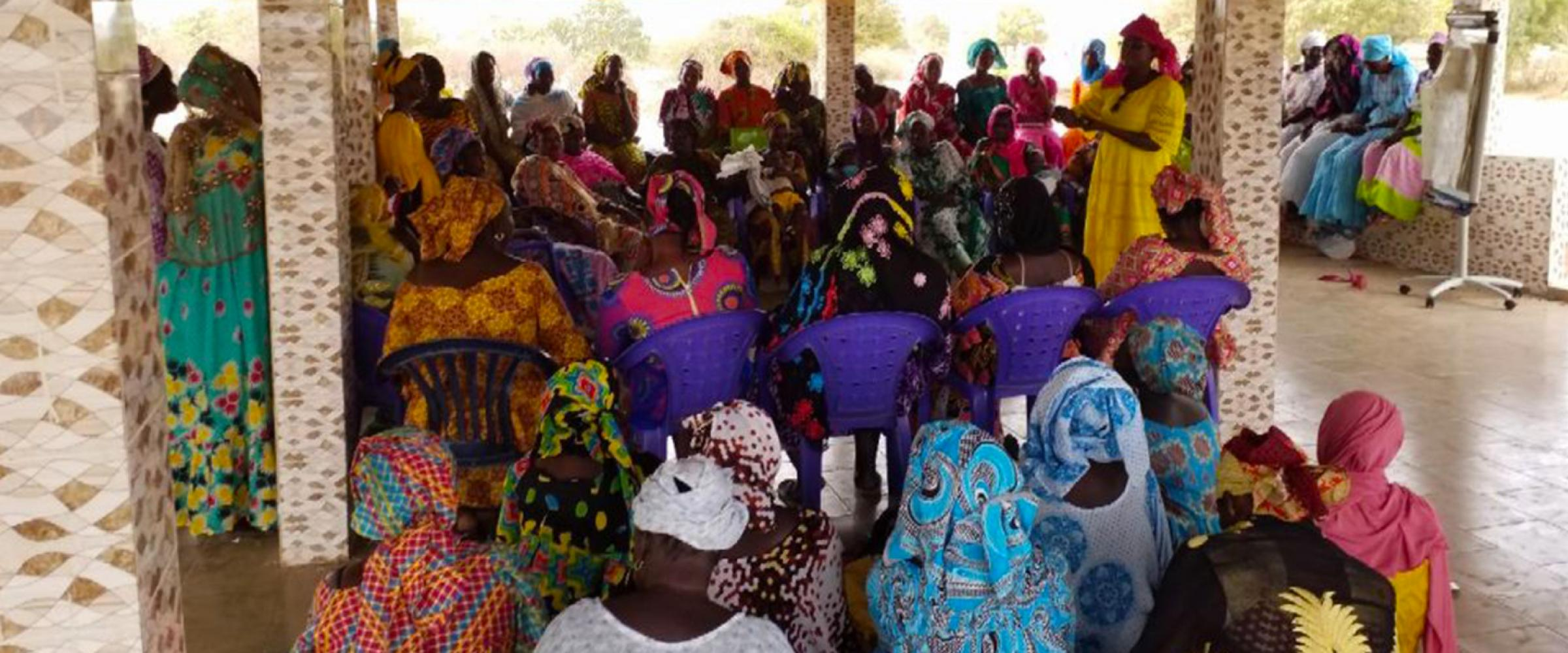 The project works with over 35 local women's associations in the Taiba N'diaye commune.