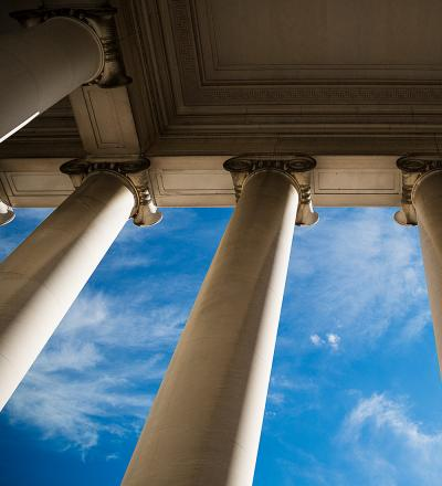 columns and sky